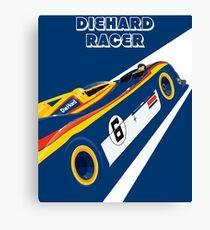 Diehard racer retro Canvas Print