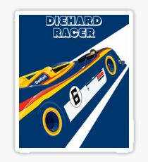 Diehard racer retro Sticker