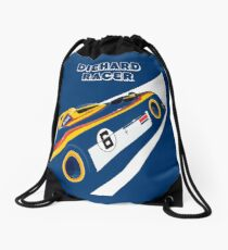 Diehard racer retro Drawstring Bag