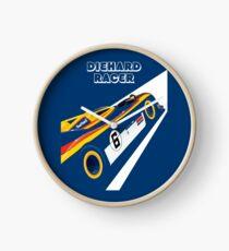 Diehard racer retro Clock