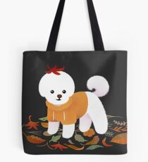 Autumnal Bichon Tote Bag