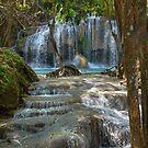 Erawan Waterfall Kanchanaburi Thailand by Dave Lloyd