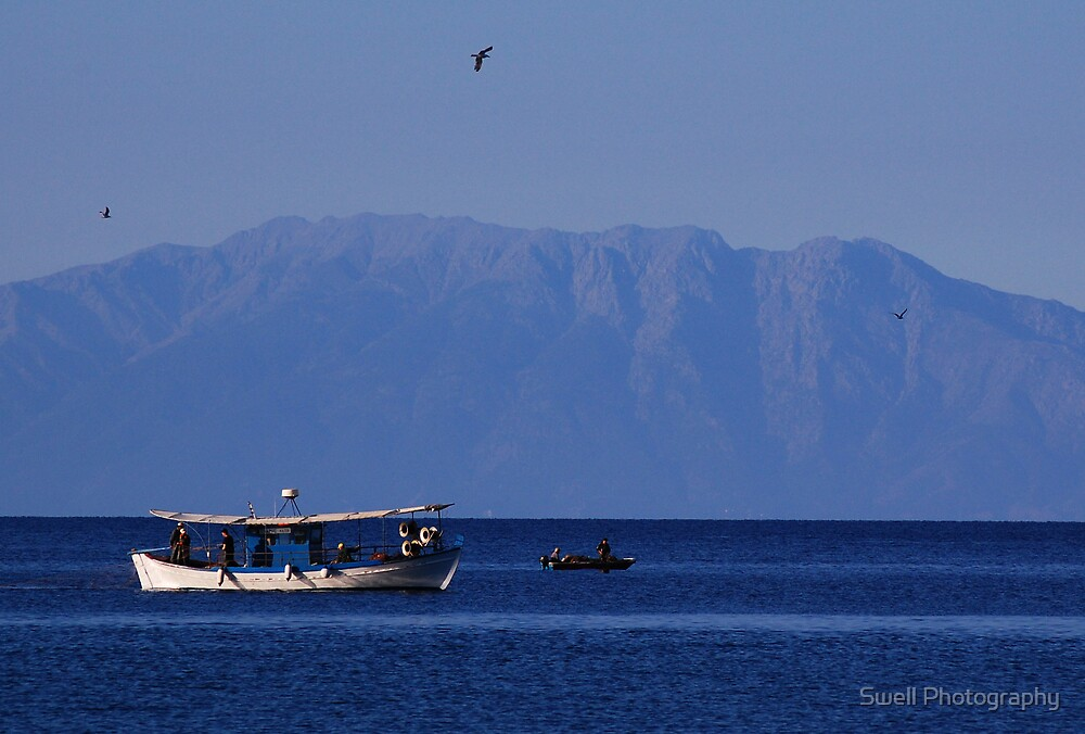 Greek Fishing Boat by Swell Photography
