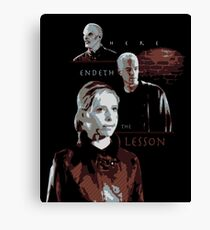 Here Endeth the Lesson Canvas Print