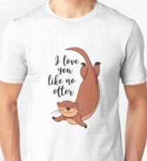 I love you like no otter Slim Fit T-Shirt
