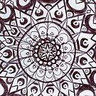 Schwarz-Weiß-Grafik Mandala von shethatisnau