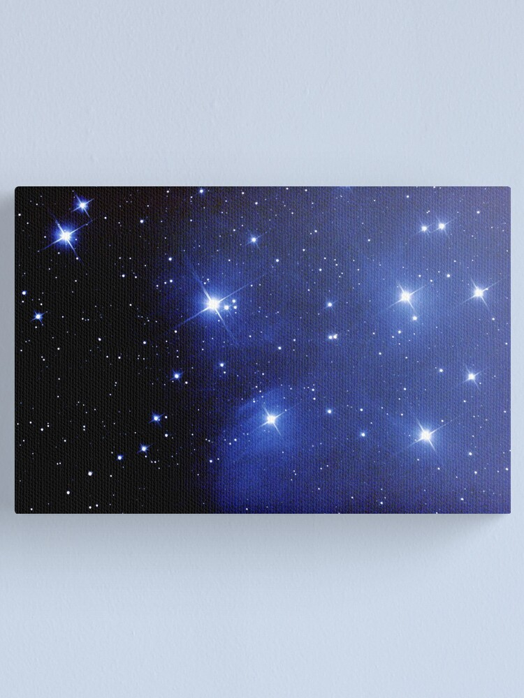Alternate view of M45 pleiades seven sisters Canvas Print