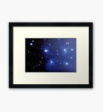 M45 pleiades seven sisters Framed Print