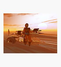 ARES CYBORG IN THE DESERT OF HYPERION,Sci Fi Movie Photographic Print