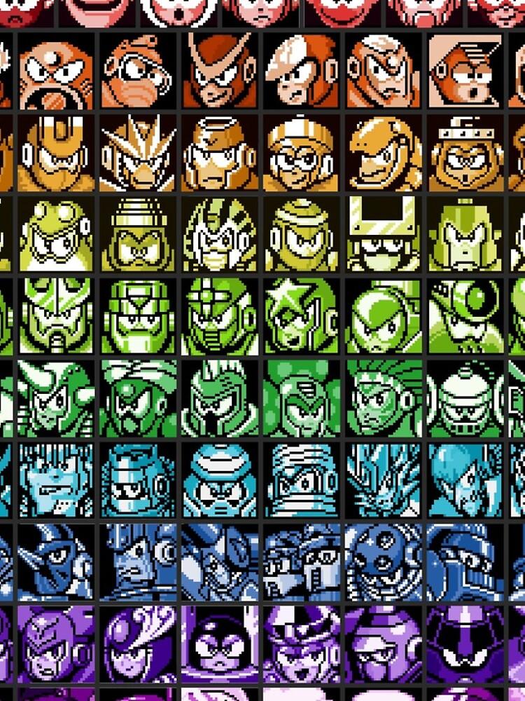 Mega Man Robot Masters Regenbogen von momboy