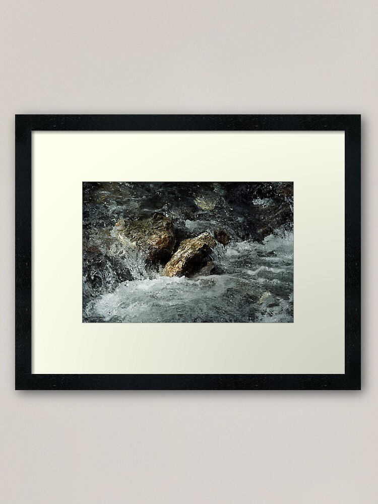 Alternate view of Weisse Lütschine: How long can a stone resist all that water? Framed Art Print