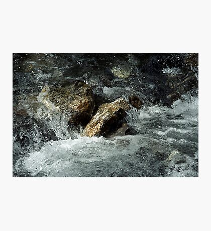 Weisse Lütschine: How long can a stone resist all that water? Photographic Print
