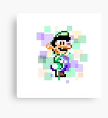 Super Mario Pixel Cubism - Luigi Version Canvas Print