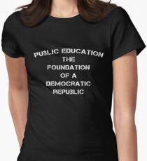 Progressive Education WHITE Women's Fitted T-Shirt