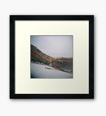 Red Rocks in the Snow Framed Print