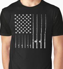 Fishing American Flag Tshirt - American Flag Fishing T-Shirt Tee Gift Graphic T-Shirt