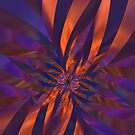 Abstract in Orange and Purple by Lyle Hatch