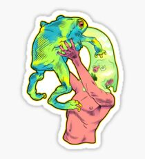 Trippy Frog Sticker