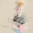 Boy With Book by Mark Salmon