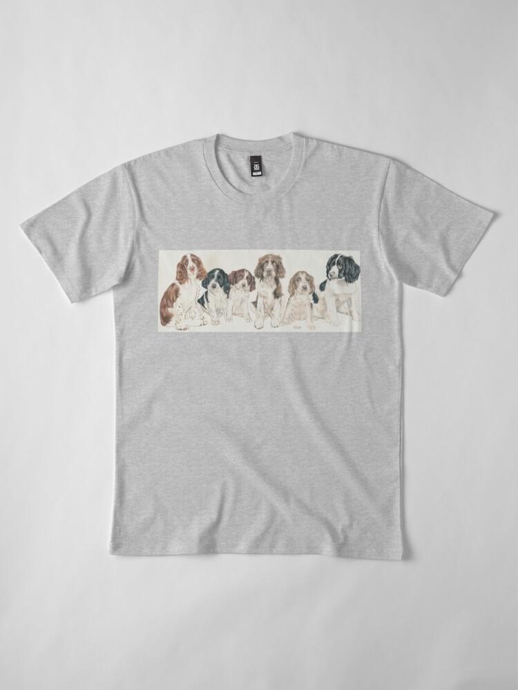 Alternate view of English Springer Spaniel Puppies Premium T-Shirt