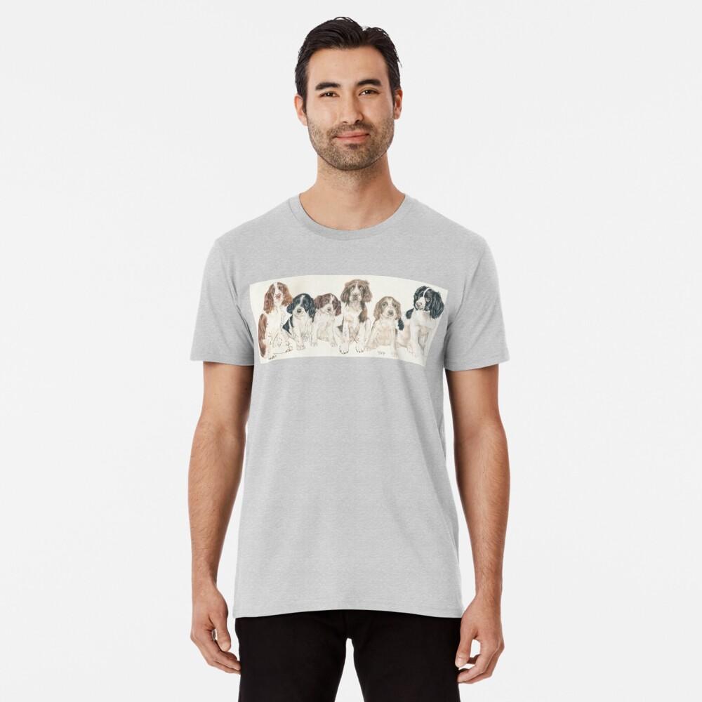 English Springer Spaniel Puppies Premium T-Shirt