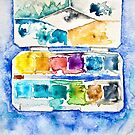 Watercolour Paintbox by Evelyn Flint