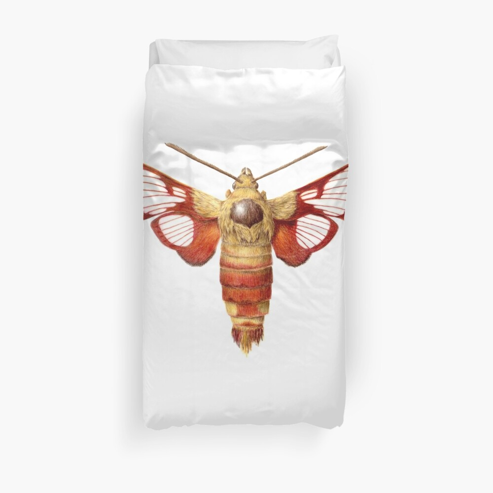 Hummingbird Clearwing Moth Duvet Cover