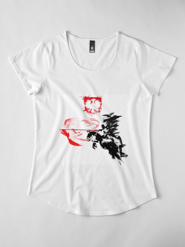 Vista alternativa de Camiseta premium de cuello ancho Húsar polaco
