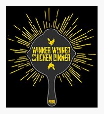 PUBG - PAN - Winner winner Chicken dinner Photographic Print
