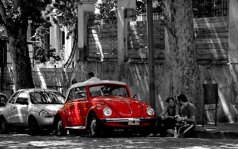Beetle in Red by Oli Johnson