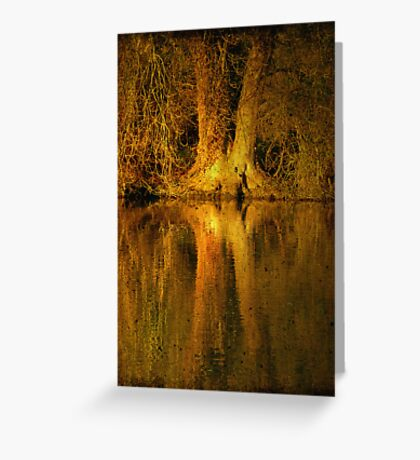 River Thames Reflection Greeting Card