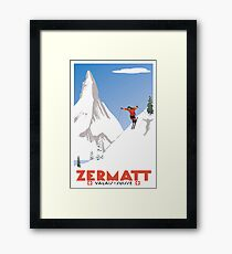Zermatt, Valais, Switzerland,Ski Poster Framed Print