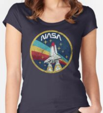 Nasa Vintage Colors V01 Women's Fitted Scoop T-Shirt