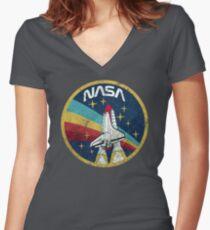 Camiseta entallada de cuello en V Nasa Vintage Colors V01