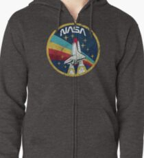 Nasa Vintage Colors V01 Zipped Hoodie