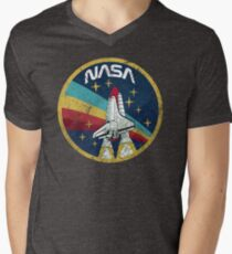 Nasa Vintage Colors V01 Men's V-Neck T-Shirt