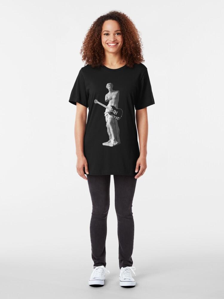 Alternate view of Venus de Milo - Left-handed Guitarist Slim Fit T-Shirt
