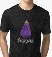 Aubergenius on dark Tri-blend T-Shirt