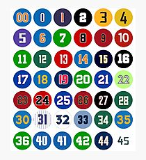 NBA Numbers Photographic Print