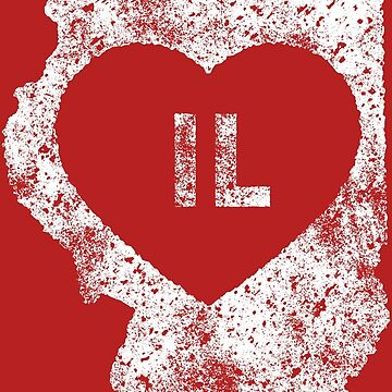 Used I Love Illinois State by Chocodole
