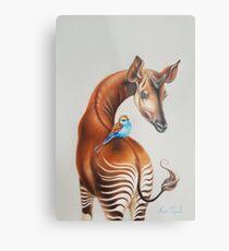 Okapi by Maria Tiqwah Metal Print