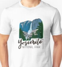 Yosemite National Park - Yosemite Falls Waterfall Mountain Unisex T-Shirt