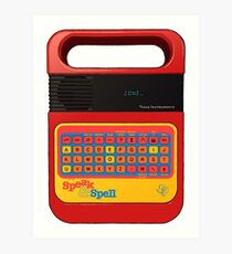 Speak and Spell Art Print