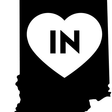 I Love Indiana State by Chocodole