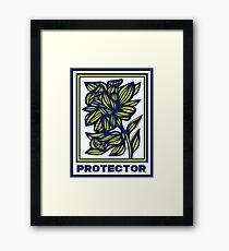Torrella Flowers Yellow Blue Framed Print