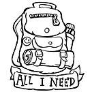 All I Need - Backpack by bangart