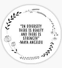The Beauty of Diversity Sticker