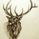 Elk Portrait - In the Rut by Patricia Howitt