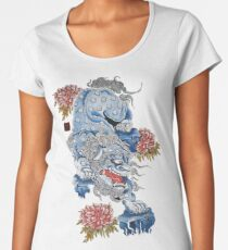 Feudal Japanese Foo Dog Women's Premium T-Shirt