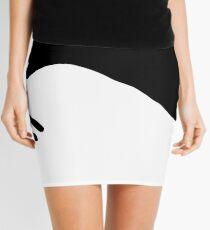 Dog Inspires a Rabbit Black and White Mini Skirt